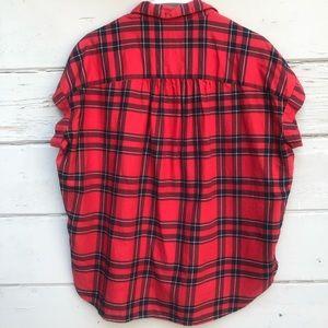 Madewell Tops - Madewell Short Sleeve Plaid Print Shirt button up